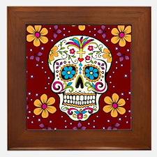 Dead Sugar Skull, Halloween Framed Tile