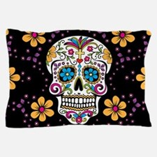 Dead Sugar Skull, Halloween Pillow Case