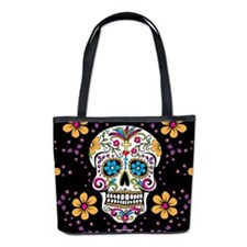 Sugar Skull BLACK Bucket Bag