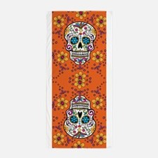 Dead Sugar Skull, Halloween Beach Towel