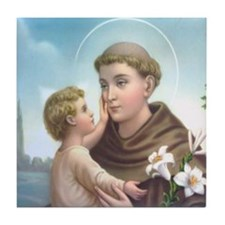St. Anthony of Padua Tile Coaster