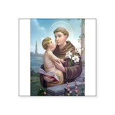 "St. Anthony of Padua Square Sticker 3"" x 3"""