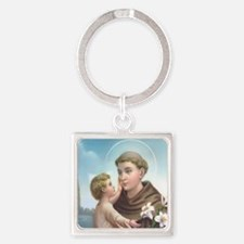 St. Anthony of Padua Square Keychain