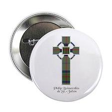 """Cross-de St Julien 2.25"""" Button"""