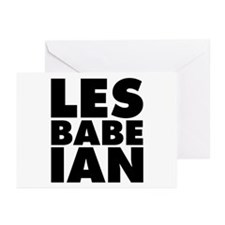 Lesbabeian Greeting Cards (Pk of 10)