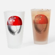 Singapore Soccer Ball Drinking Glass