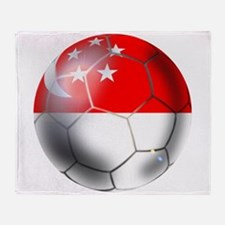 Singapore Soccer Ball Throw Blanket