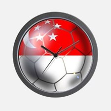 Singapore Soccer Ball Wall Clock