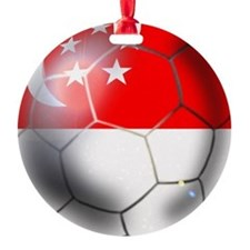 Singapore Soccer Ball Ornament