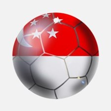 Singapore Soccer Ball Ornament (Round)