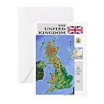 UK Map Greeting Cards (Pk of 10)