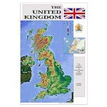 UK Map Large Poster