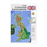 UK Map Mini Poster Print