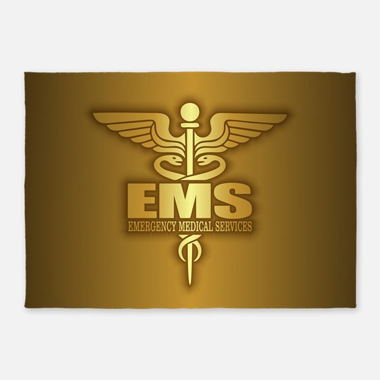 EMS gold 5'x7'Area Rug