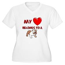 Bulldog gifts for women Women's Plus Size V-Neck T