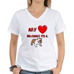 Bulldog gifts for women Women's V-Neck T-Shirt