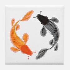 Japanese Koi Tile Coaster
