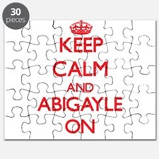 Keep Calm and Abigayle ON Puzzle