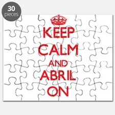 Keep Calm and Abril ON Puzzle