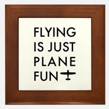 Plane Fun Flying 1504 Framed Tile