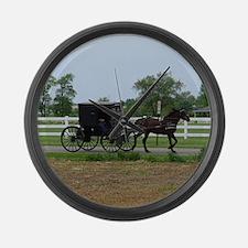 Amish Buggy Large Wall Clock