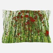 Red Wild Grass Pillow Case