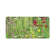 Spring Wild Grass Aluminum License Plate