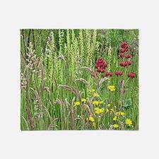 Spring Wild Grass Throw Blanket