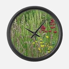 Spring Wild Grass Large Wall Clock