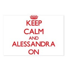 Keep Calm and Alessandra Postcards (Package of 8)