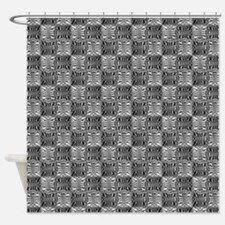 Quilted Hooks & Eyes Shower Curtain