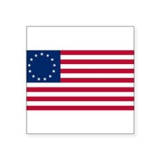 "Cute 13 colonies flag Square Sticker 3"" x 3"""
