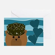 Army Camouflage Soldier Missing You Greeting Cards