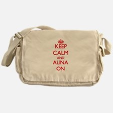 Keep Calm and Alina ON Messenger Bag