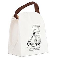 Police Cartoon 5798 Canvas Lunch Bag