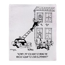 Police Cartoon 5798 Throw Blanket