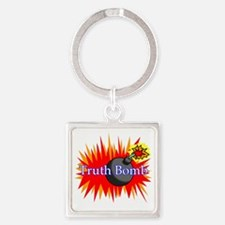 Truth Bomb Square Keychain