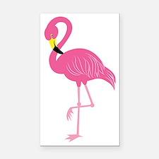 Pink Flamingo Rectangle Car Magnet