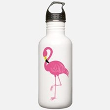 Pink Flamingo Water Bottle