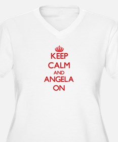 Keep Calm and Angela ON Plus Size T-Shirt
