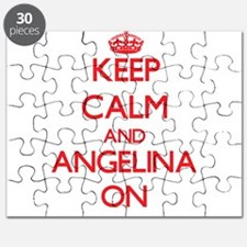 Keep Calm and Angelina ON Puzzle