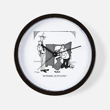 Crime Cartoon 5202 Wall Clock