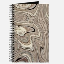 rustic brown swirls marble Journal