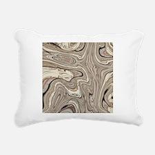rustic brown swirls marb Rectangular Canvas Pillow