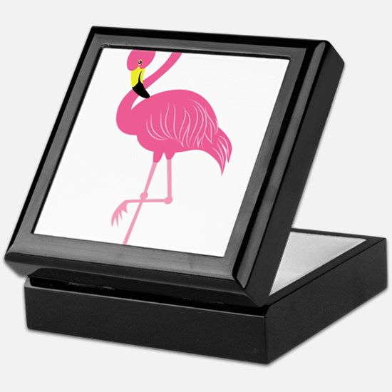 Pink Flamingo Keepsake Box