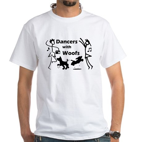Dancers With Woofs White T-Shirt