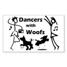 Dancers With Woofs Rectangle Decal