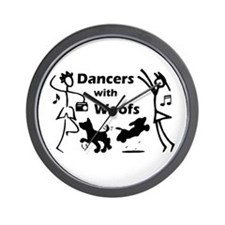 Dancers With Woofs Wall Clock