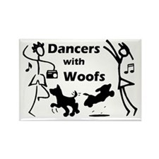 Dancers With Woofs Rectangle Magnet