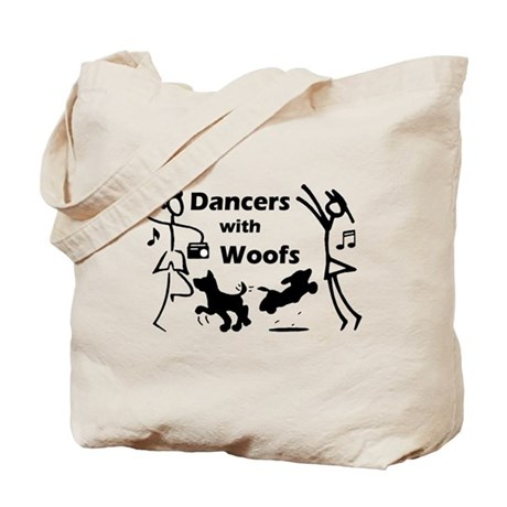 Dancers With Woofs Tote Bag